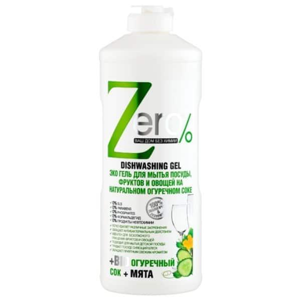 """Ekologiczny żel do mycia naczyń, warzyw i owoców """"Zero %"""""""
